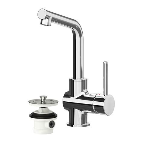 Lundsk 196 R Bath Faucet With Strainer Chrome Plated Ikea Ikea Faucet Bathroom