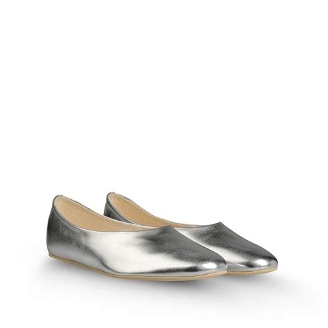 flat silver shoes stella mccartney flat shoes in silver lyst