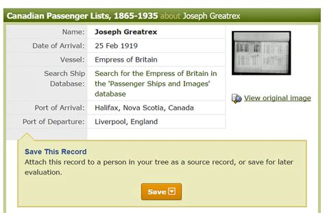 Records Before 1919 The Joseph Henry Greatrix Family History Story Our