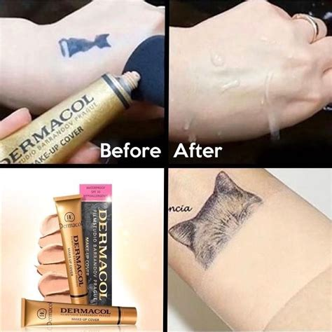 tattoo cover up foundation dermacol cover legendary high covering foundation make up