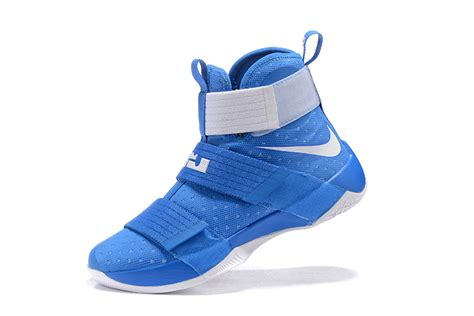 uk basketball shoes mens nike lebron soldier 10 royal blue silver