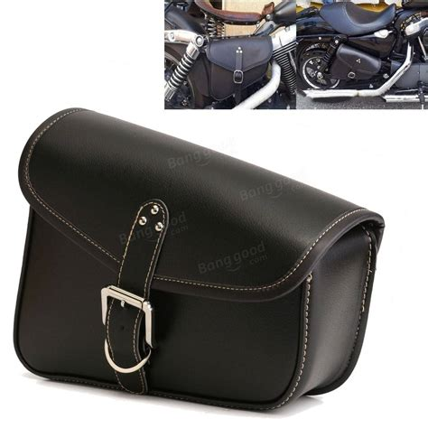 swing arm bags motorcycle pu leather solo swingarm bag side saddlebag