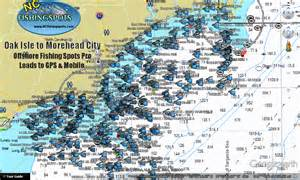 oak island morehead carolina fishing map and fishing