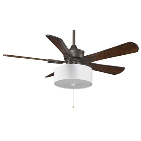 Ceiling Fan Shades by Islander Rubbed Bronze 52 Inch Ceiling Fan With Walnut