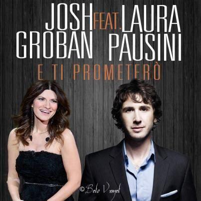 quale star porta il nome di josh groban sul petto e news laura pausini duetto a febbraio con la star josh groban