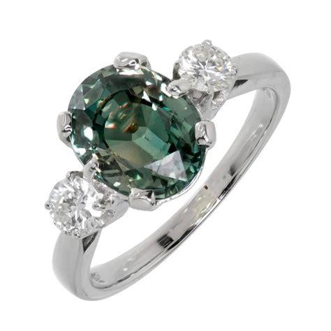 blue green sapphire engagement blue green sapphire gold engagement ring