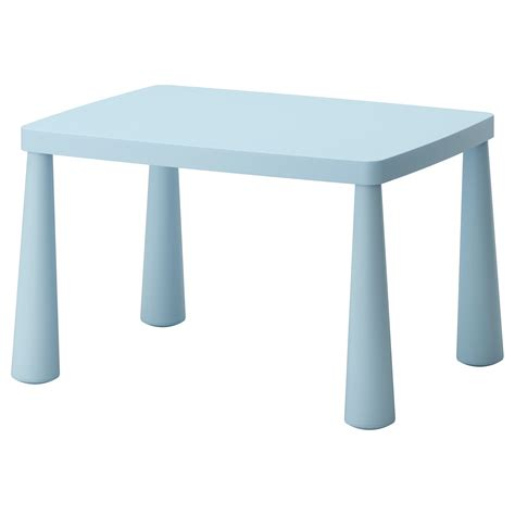 ikea childrens table mammut children s table in outdoor light blue 77x55 cm ikea