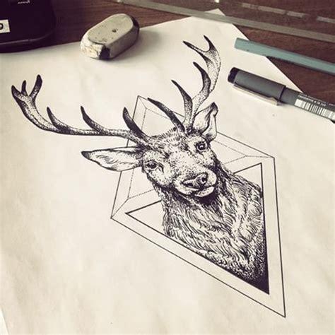 geometric elk tattoo 59 best geometric deer tattoos