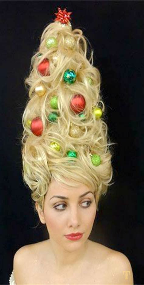 christmas themed hair 1000 id 233 es sur le th 232 me grinch costumes sur pinterest le