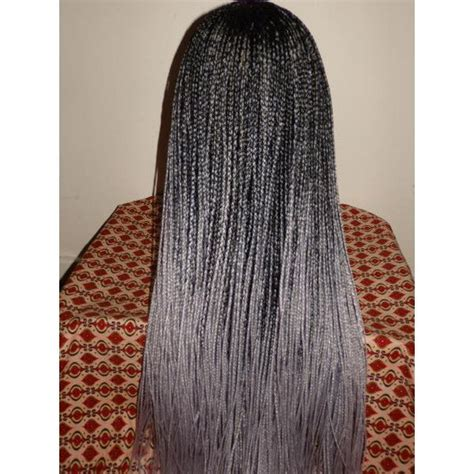 black to grey ombre box braids hairstyles handmade ombre box braid whole lace wig black silver grey