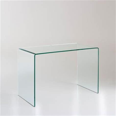 bureau original pas cher bureau console verre trempe