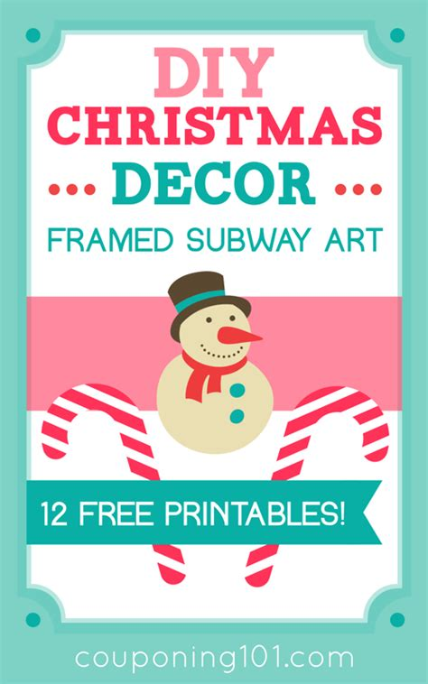 diy decor framed subway free printables