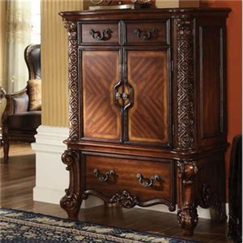 vendome bedroom set vendome cabinet in cherry finish by acme 22006 d