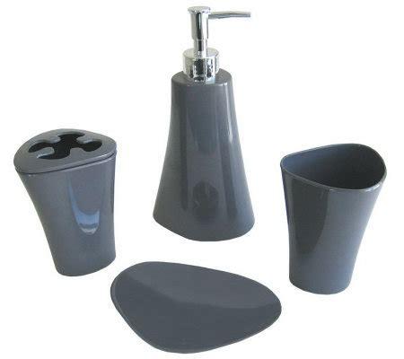 Splash Bathroom Accessories Splash 4 Melamine Bathroom Accessory Set Qvc
