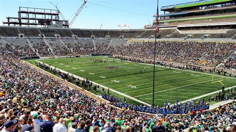 Notre Dame Stadium Sections by Notre Dame Stadium Section 4 Rateyourseats