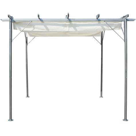 retractable roof pergola prices vidaxl pergola with retractable roof white steel 3x3
