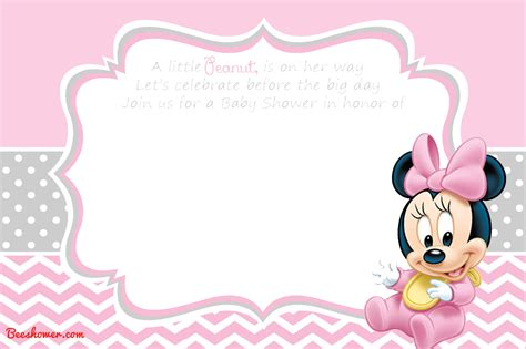 minnie mouse baby shower invitations templates new free printable mickey mouse baby shower invitation