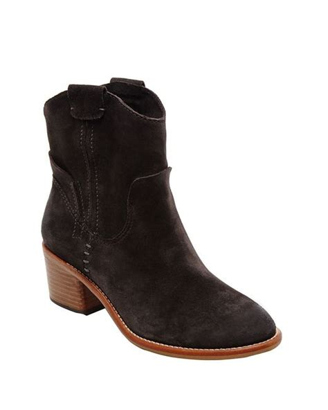 dolce vita grayden suede ankle boots in black anthracite