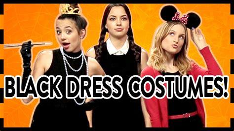 easy halloween costumes    black dress youtube