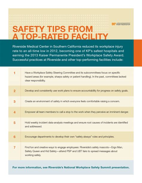 workplace safety tips from a top facility labor