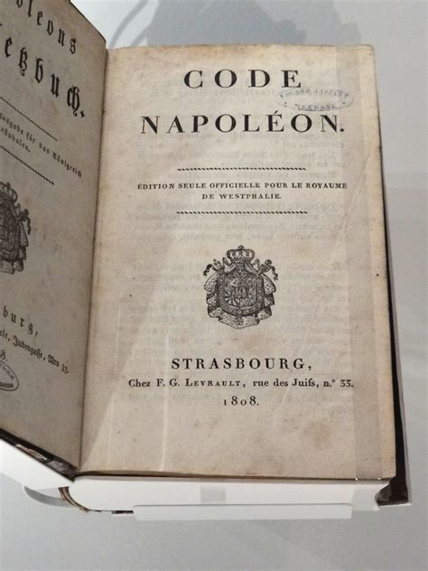 the code napoleon or the civil code literally translated from the original and official edition published at in 1804 classic reprint books opinions on napoleonic code