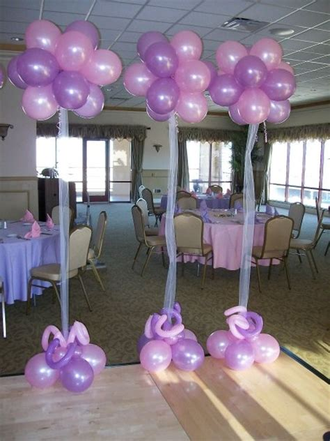 Simple balloon decorations without helium party themes inspiration