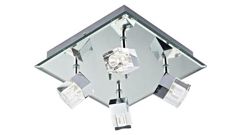 modern led bathroom ceiling light with cube glass
