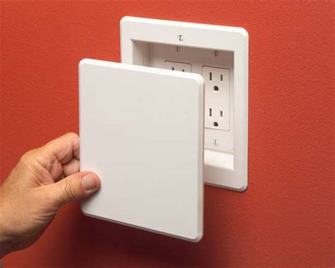 recessed outlet for ac adapter recessed single gang box recessed free engine image for