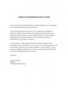 Recommendation Letter Sle Internship 12 Recommendation Letter For Internship 28 Images Sle