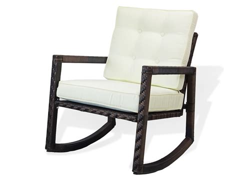 Outdoor Rocking Chairs With Cushions by Patio Resin Rocking Chair With Cushion Rattan Usa