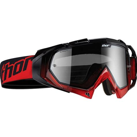 Thor Hero Red Black Motocross Goggles Clearance