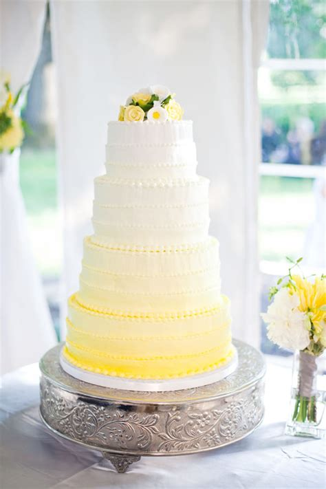 Wedding Cake Yellow by Wedding Cakes Pictures Yellow Ombre Wedding Cake