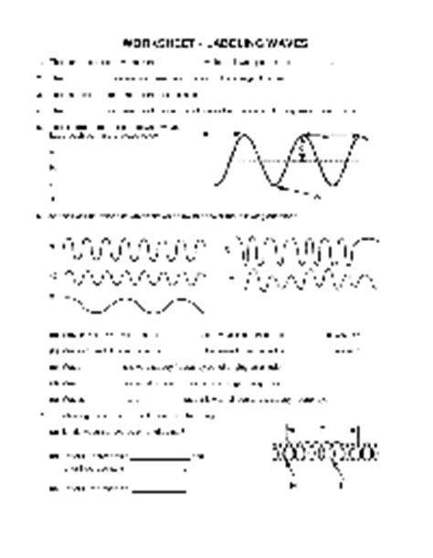 Worksheet Labeling Waves Answers by 10 Best Images Of Color Shapes Worksheets Printable
