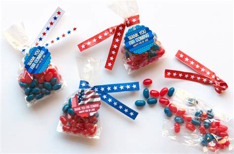 Candy Giveaways - 4th of july candy favors diy twist ties evermine blog