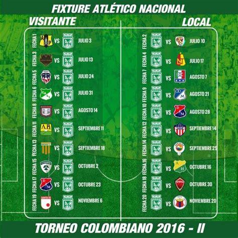 Calendario B Nacional Atl 233 Tico Nacional Y Su Calendario De La Liga 193 Guila 2016