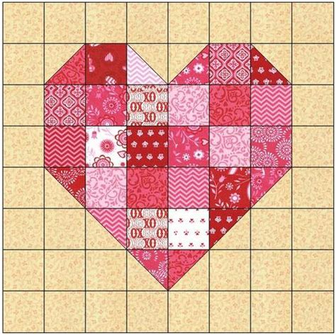 pattern for log cabin heart quilt log cabin heart quilt block pattern download the