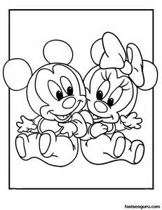 disney baby minnie coloring pages download