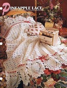 crochet afghans pineapple images  pinterest