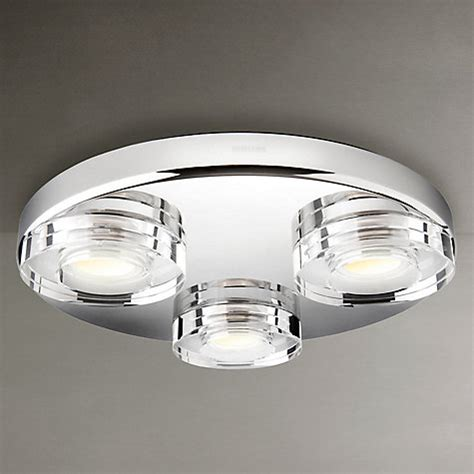 Buy Philips Mira 3 Bulb Led Bathroom Light John Lewis Philips Led Bathroom Lights