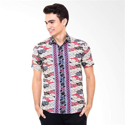 Kemeja Batik Pria Lengan Pendek Dengan Motif Mega Mendung Besar jual batik agrapana hem batik fit mega mendung