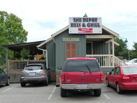 family dining on buck creek at the depot deli grill in