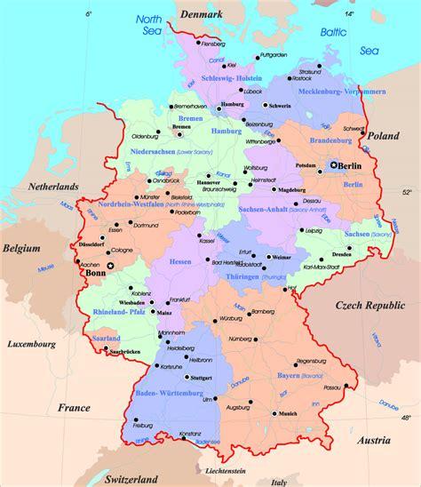 ermany map mapy niemiec szczeg 243 łowa mapa niemiec w języku