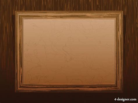 frame pattern on wall 4 designer classical wood grain frame 02 vector material