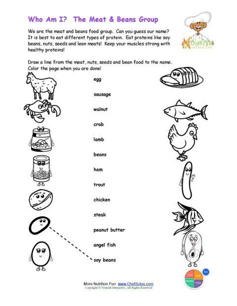 carbohydrates puzzle 6 printable match the beans names and color the