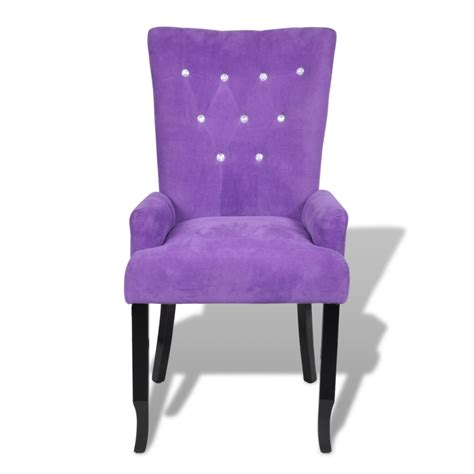 Purple Velvet Dining Chairs Armchair Dining Chair Black Wood Velvet Coated Purple Www Vidaxl Au