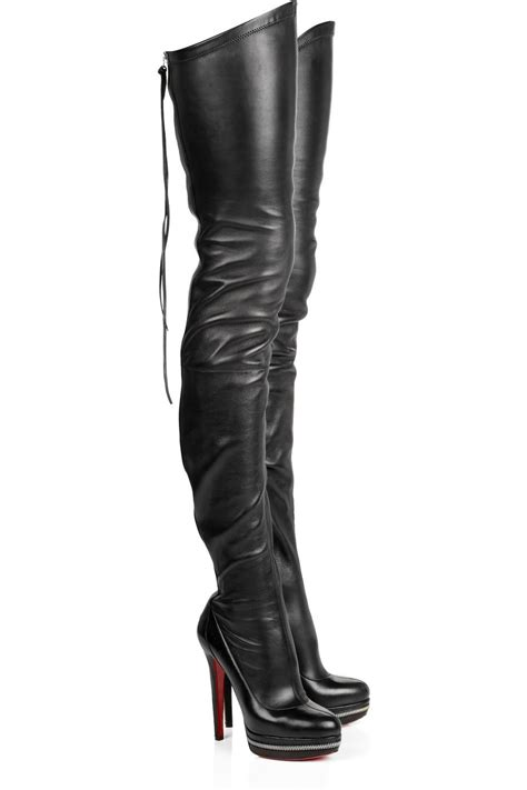 black thigh high boots car interior design