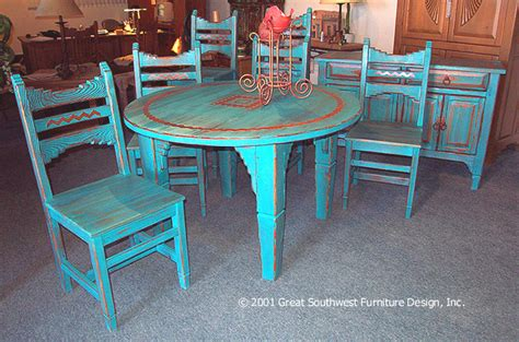 dining table southwestern round dining table