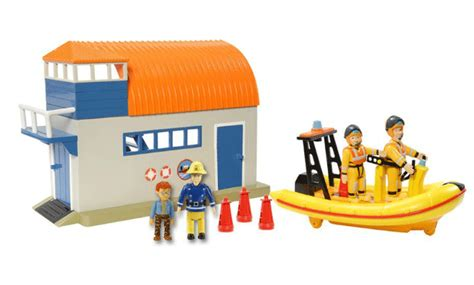 fireman sam boat ebay new fireman sam sea rescue playset with boathouse