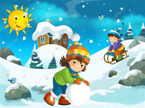 imagenes animadas invierno ilustraci 243 n de dibujos animados de invierno foto de