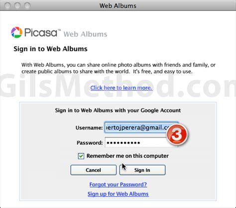 Picasa Gmail Upload Pictures